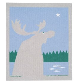 Cose Nuove Swedish Dishcloth, Moose By Lake Night