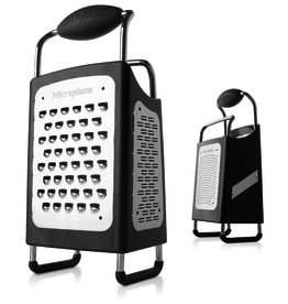 Microplane 4-sided Box Grater, black