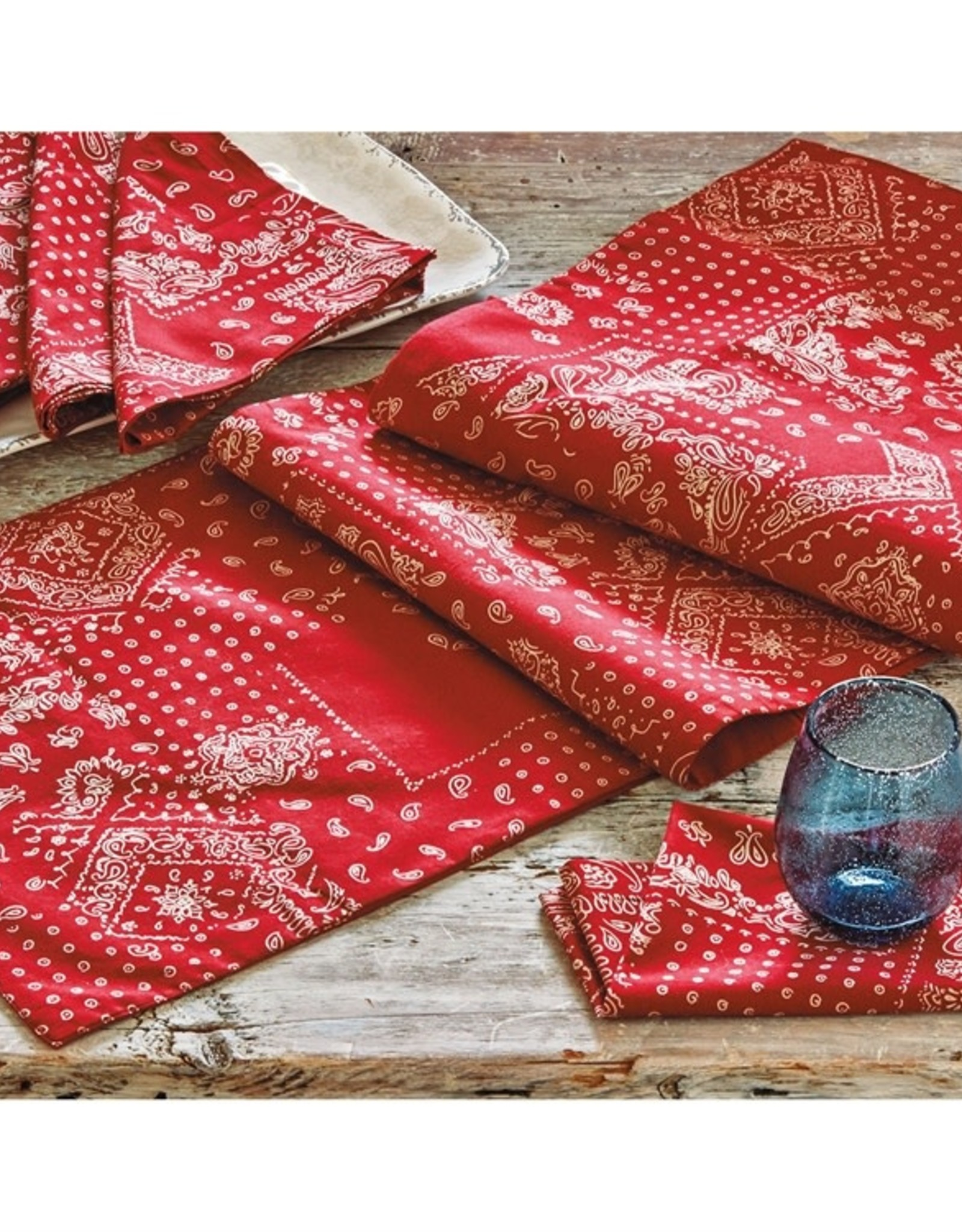 Tag S20 Table Runner, Red Bandana