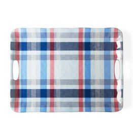 Tag S20 Serving Tray w/ Handles, Jackson Blue Plaid