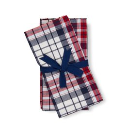 Tag S20 Napkin S/4 Arlo Red Blue Plaid