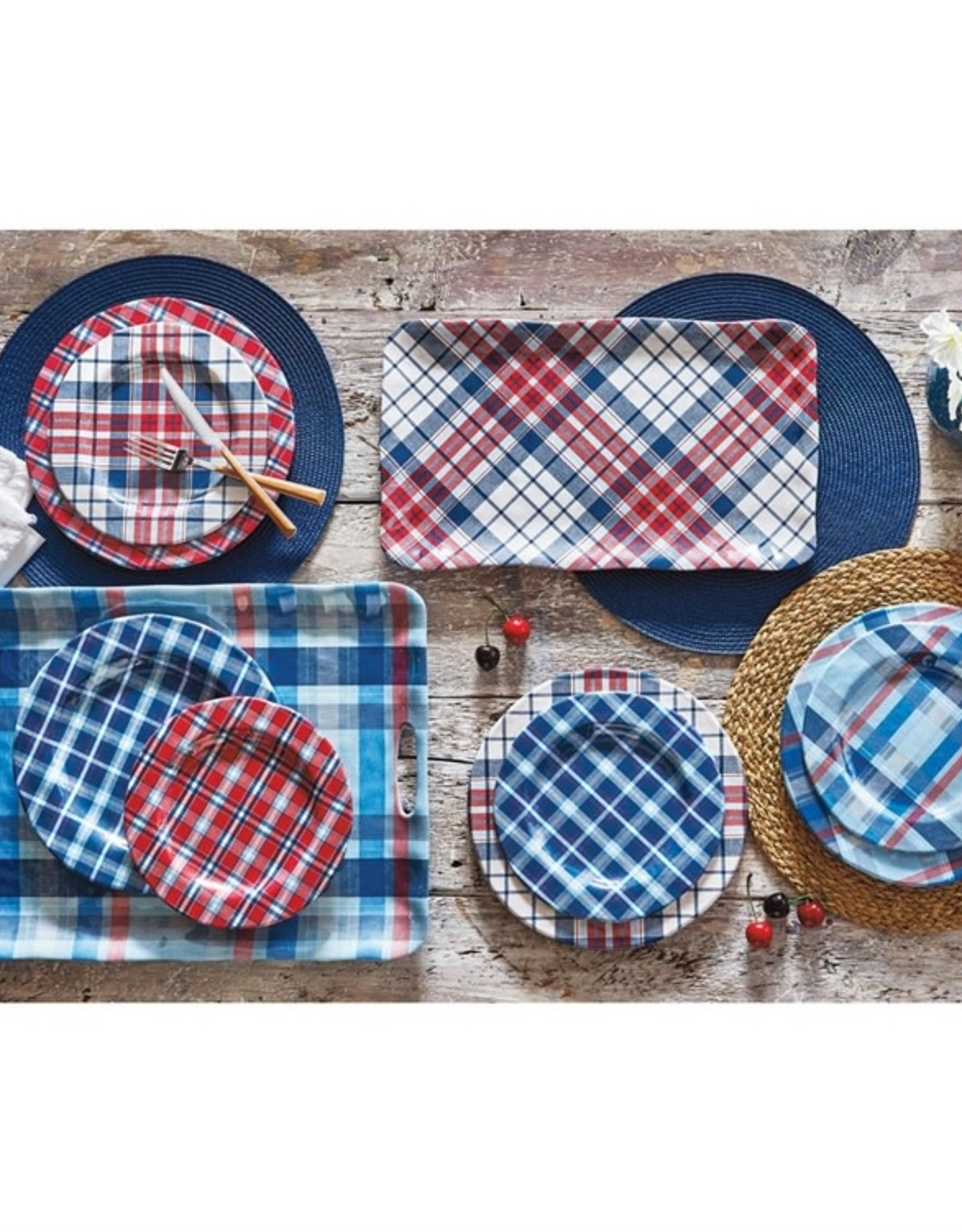 Tag S20 Melamine Dinner Plate S/4, Jessie Red Plaid