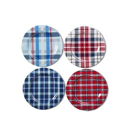Tag S20 Melamine Salad Plate S/4 Jessie Red Plaid