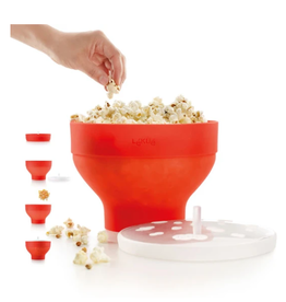Lekue Popcorn Maker, Red/Orange