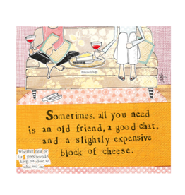 Boston International Curly Girl Cocktail Napkin, Block of Cheese