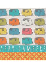 Boston International S20 Cocktail Napkin, Happy Campers