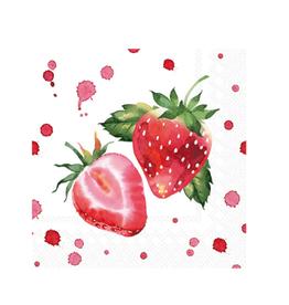 Boston International S21 Cocktail Napkin, Soft Strawberries