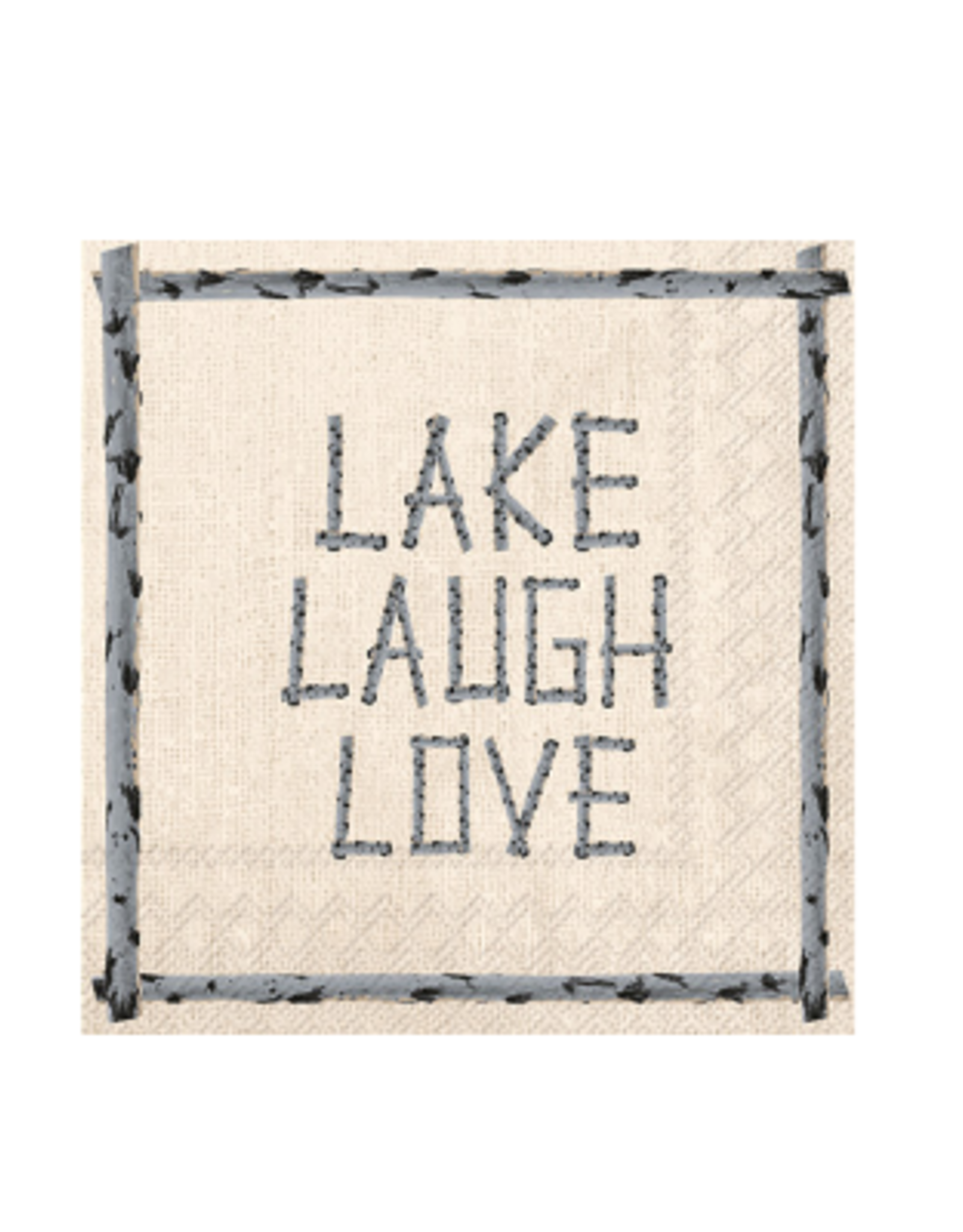 Boston International Cocktail Napkin, Lake Laugh Love