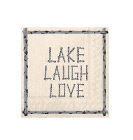Boston International Cocktail Napkin, Lake Laugh Love