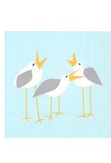 Boston International Luncheon Napkin, Seagulls