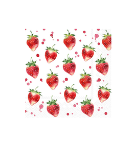 Boston International S21 Luncheon Napkin, Soft Strawberries