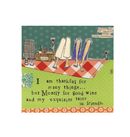 Boston International Curly Girl Cocktail Napkin, Thankful For