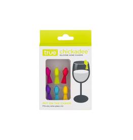 True Fabrications Wine Glass Marker, Chickadee