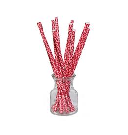 Simply Baked Paper Straws, Scarlet Quadrafoil