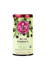 The Republic of Tea Acai Green Tea, 50 Bag Tin