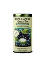 The Republic of Tea Black Raspberry Green Tea, 50 Bag Tin