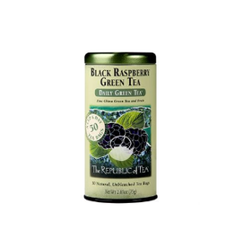 The Republic of Tea Black Raspberry Green Tea, 50 Bag Tin