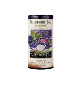 The Republic of Tea Blackberry Sage Black Tea, 50 Bag Tin
