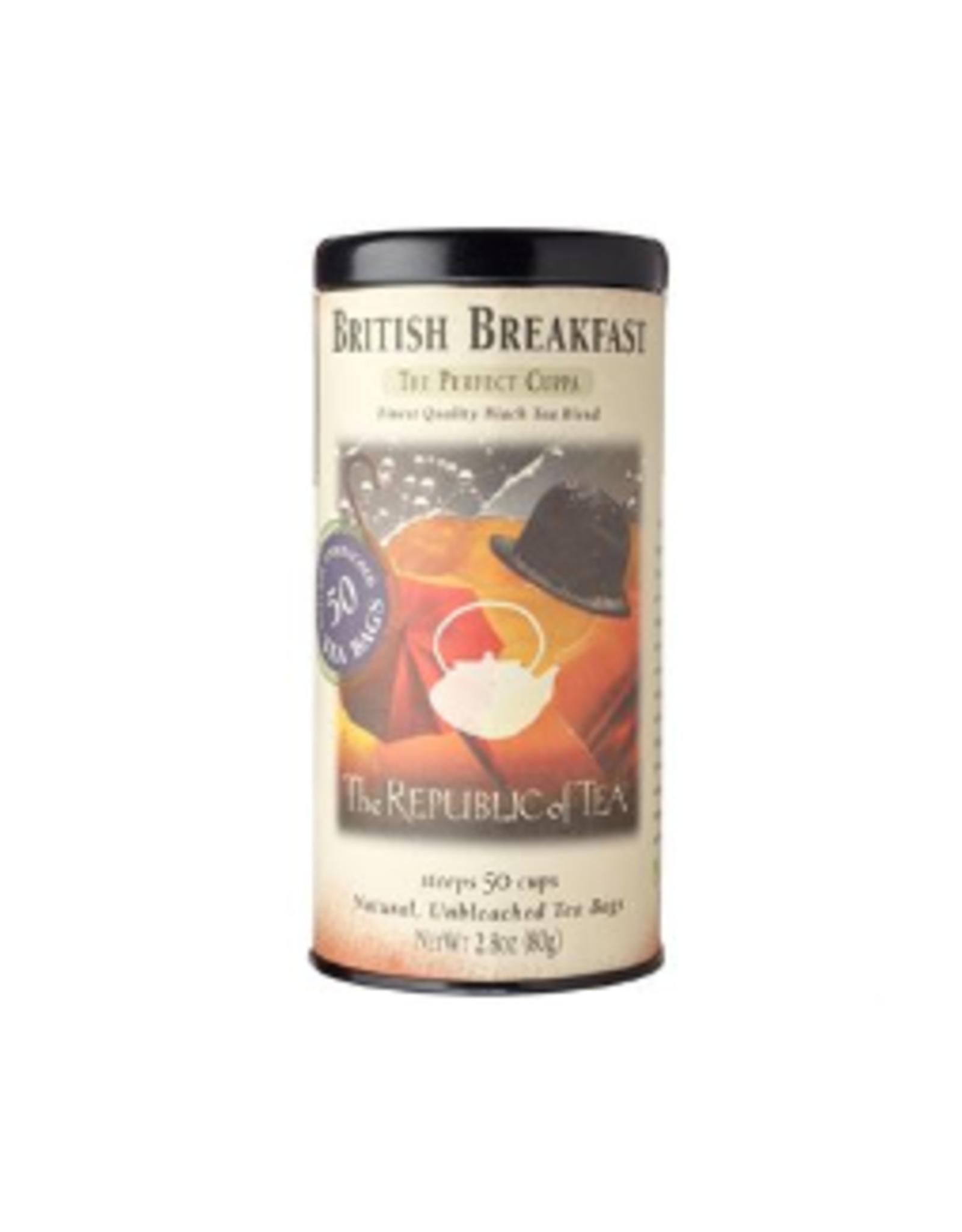 The Republic of Tea British Breakfast Black Tea, 50 Bag Tin