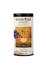 The Republic of Tea Ginger Peach Black Tea, 50 Bag Tin
