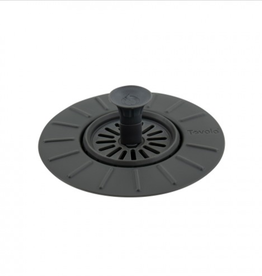 Tovolo Collapsible Stopper & Strainer, Charcoal Gray
