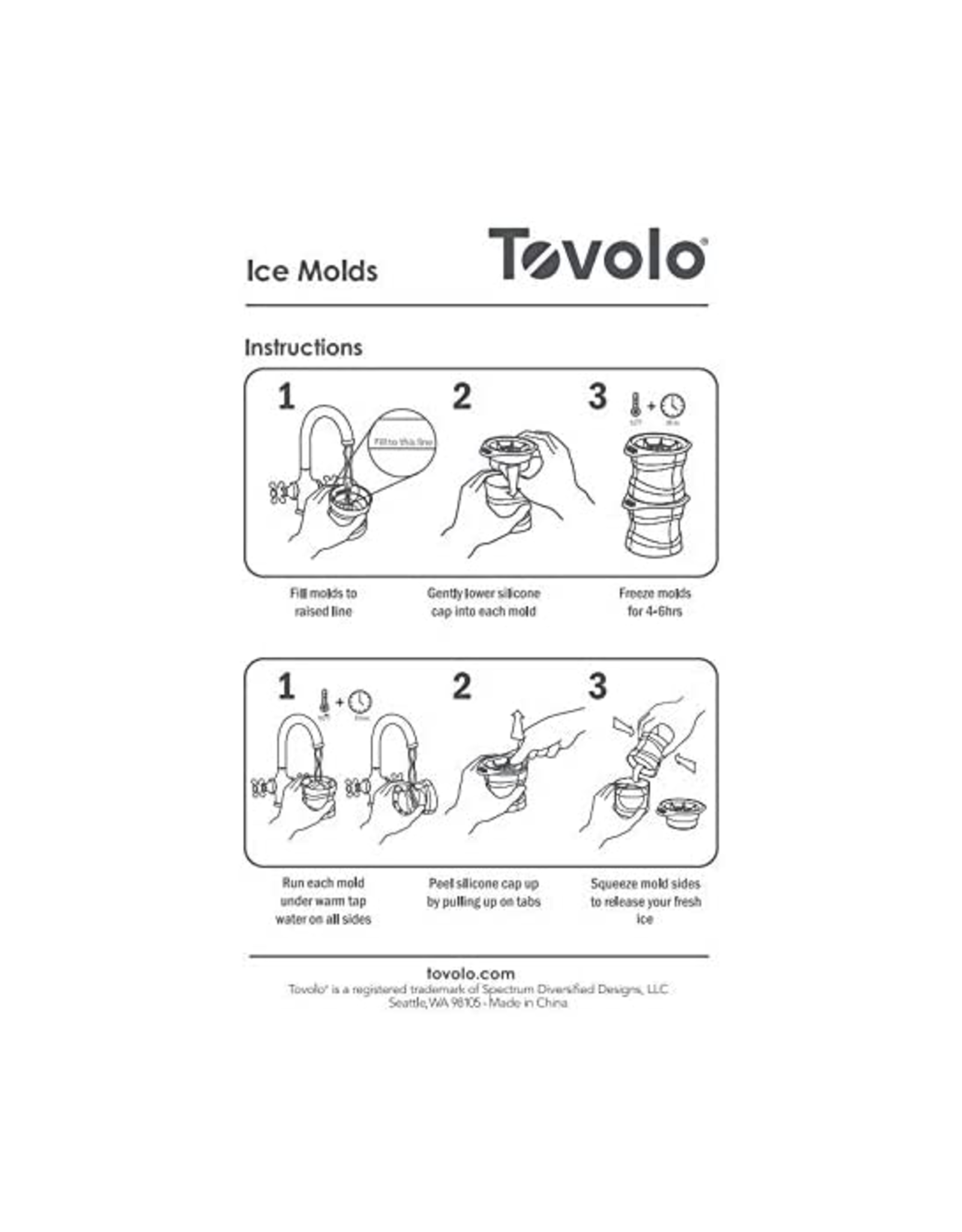 Tovolo Sphere Ice Molds, Set/2