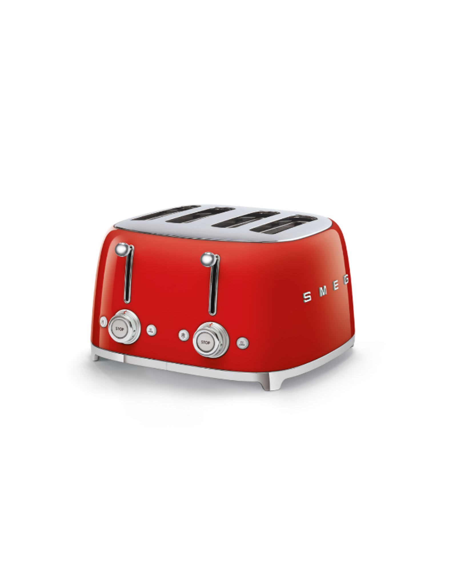Smeg 4 Slot Toaster, Red