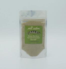 Salt Sisters Hawaiian Green Bamboo Sea Salt, Fine