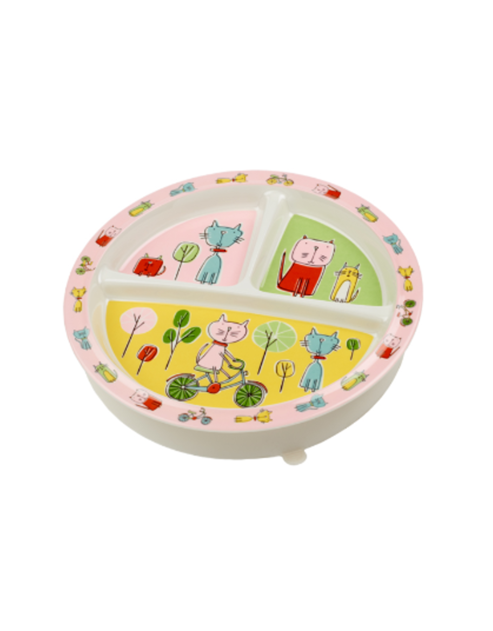 ORE Originals Divided Suction Plate, Go Kitty