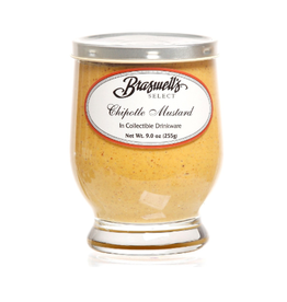 Braswell Foods Chipotle Mustard, Footed Glass