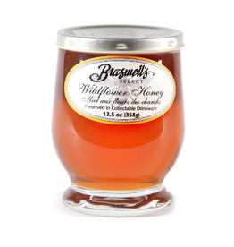 Braswell Foods Wildflower Honey, Footed Glass