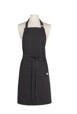 Now Designs Apron, Basic, Pinstripe Black