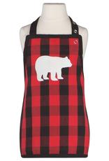 Now Designs Kids Apron, Buffalo Check Bear