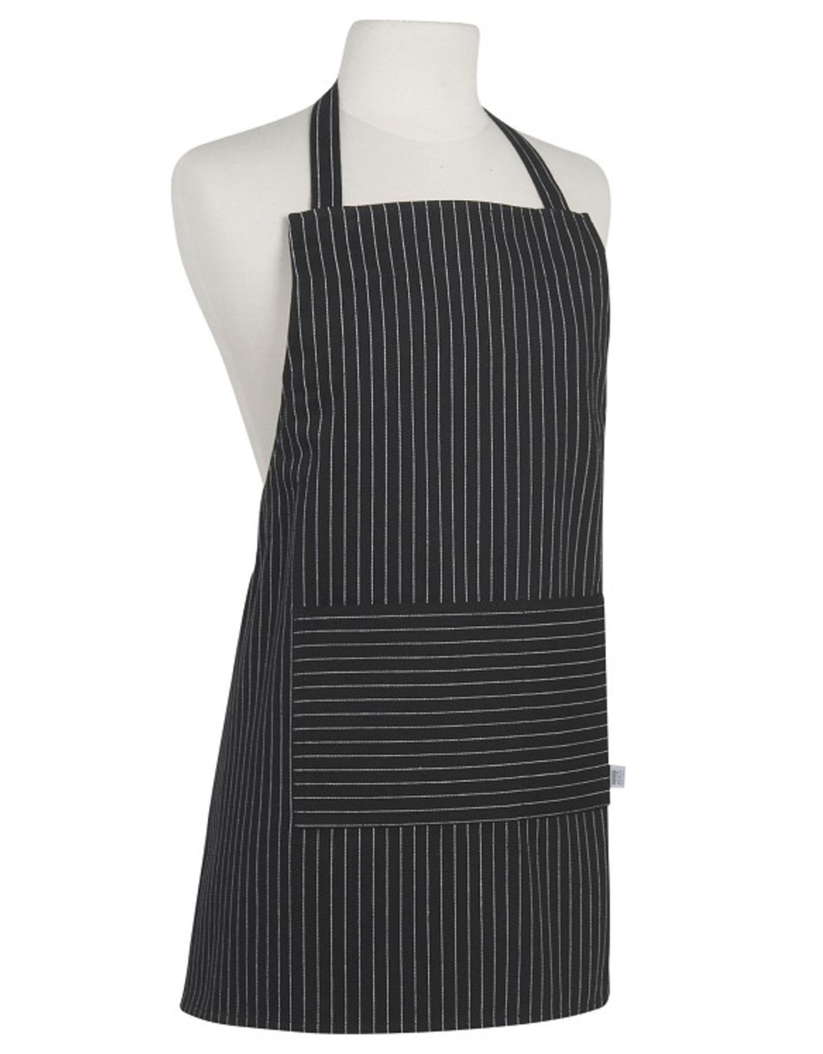 Now Designs Kids Cooking Apron, Black Pinstripe