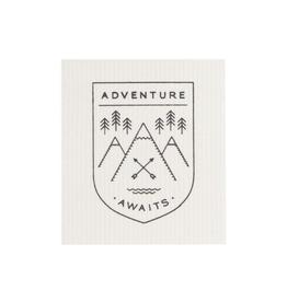 Now Designs Swedish Dishcloth, Adventure Awaits