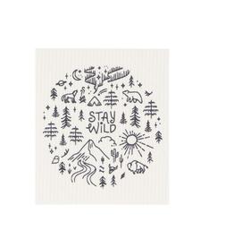 Now Designs Swedish Dishcloth, Stay Wild