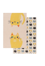 Now Designs Dishtowel Set/2, Meow Meow