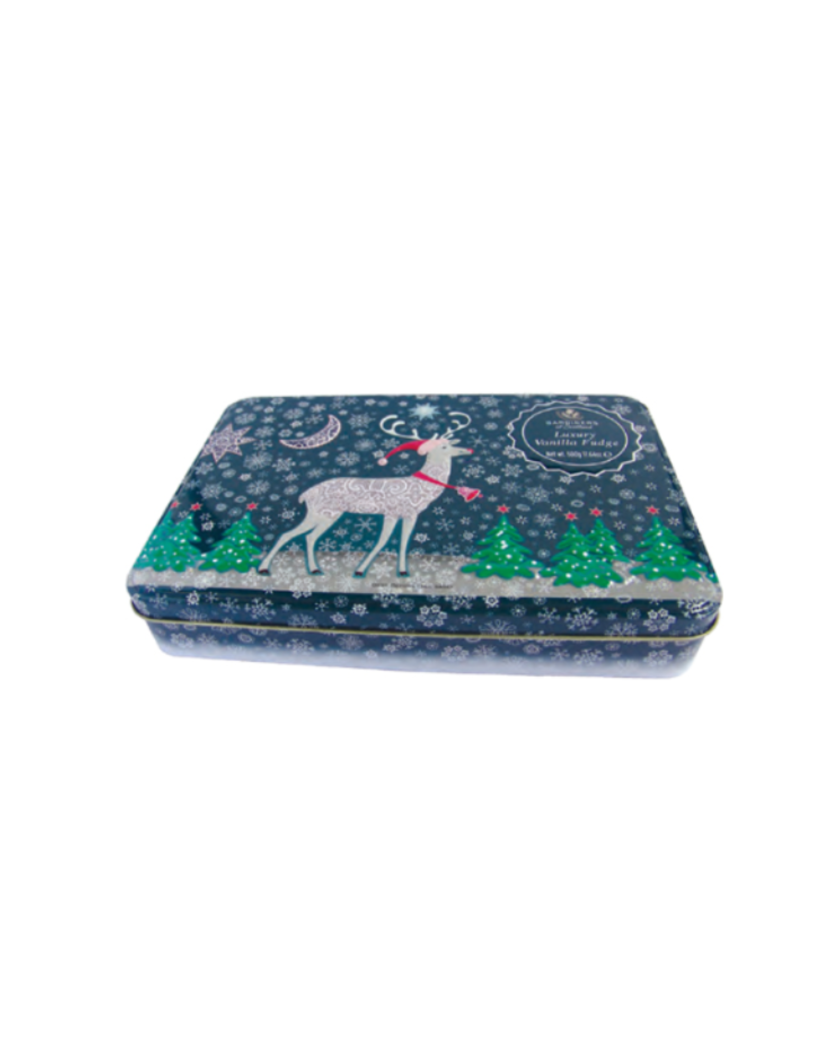 Great Scot International Fudge Reindeer Tin, Vanilla