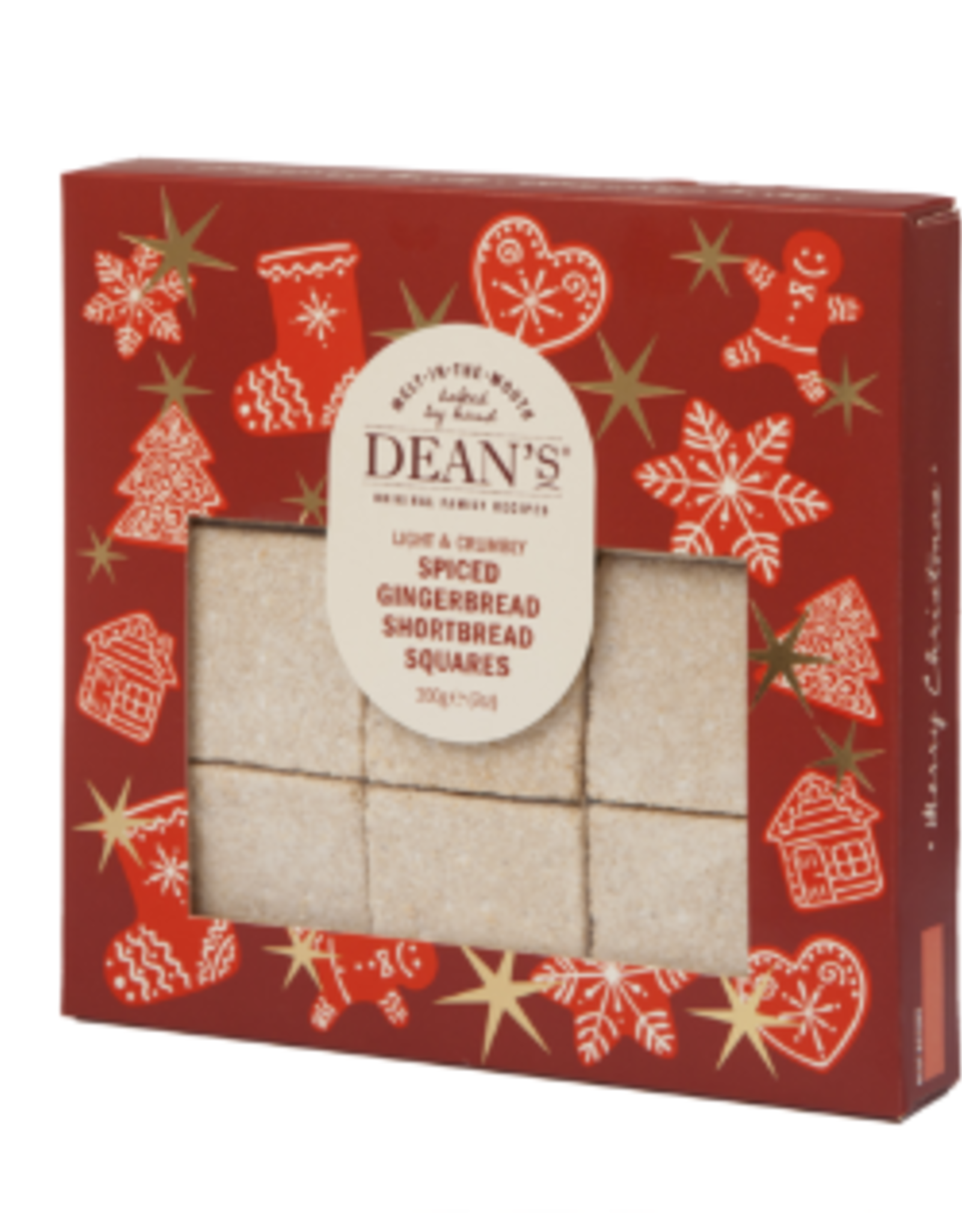 Great Scot International Shortbread Squares, Spiced Ginger