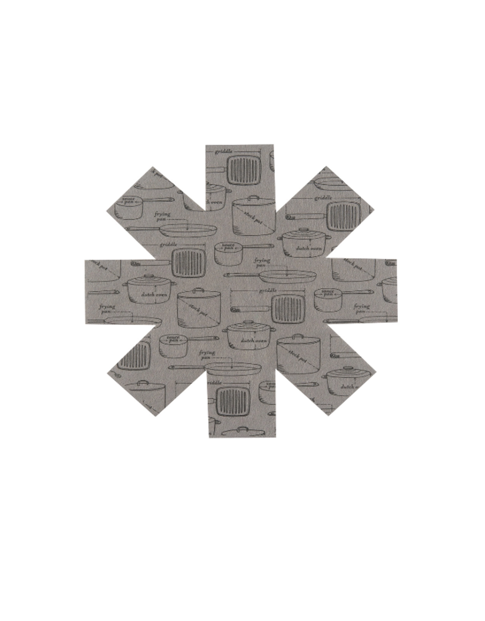 Now Designs Pan Protectors Set/3, Gray