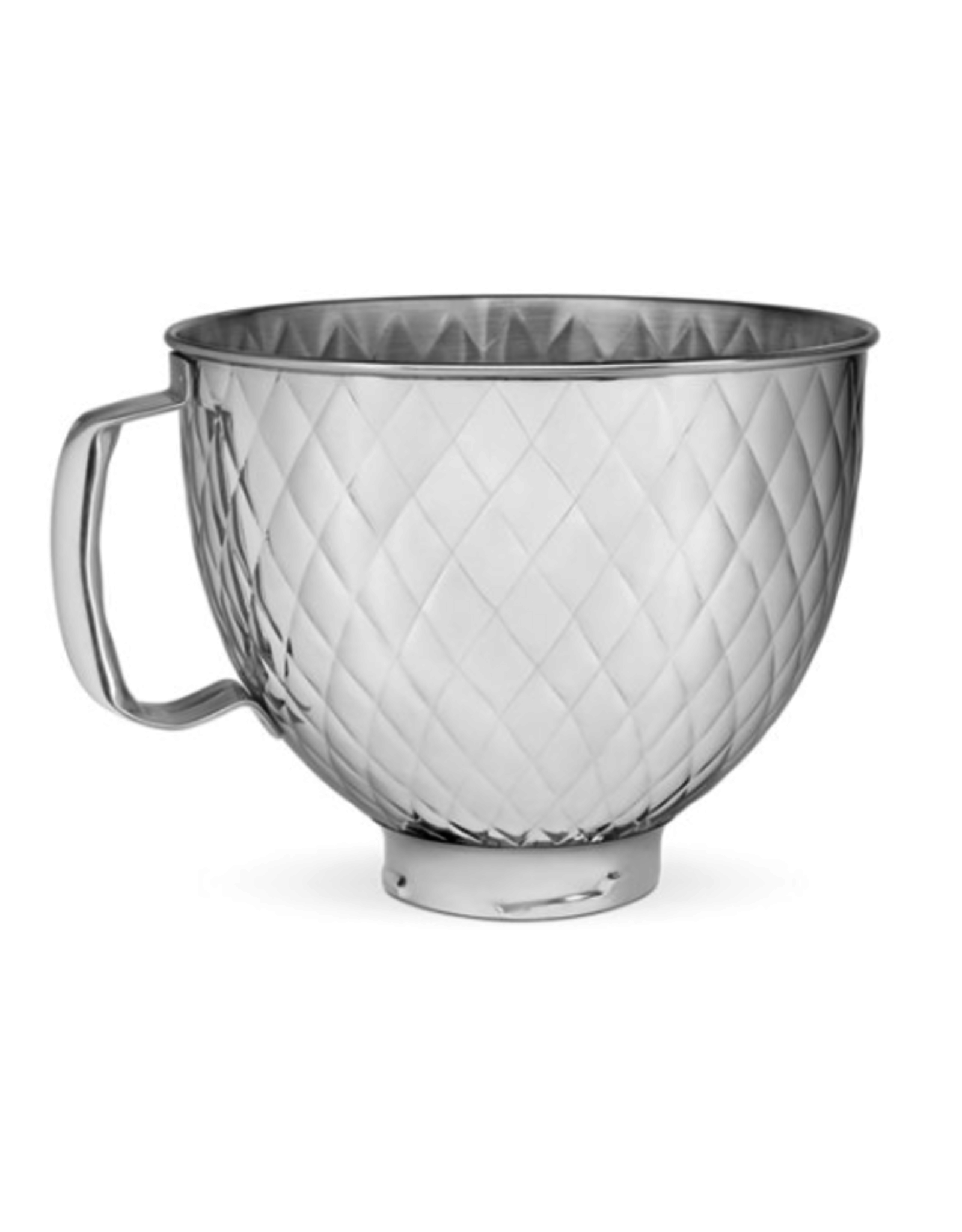KitchenAid 5 Qt. Stainless Quilted Steel Bowl with ergo handle