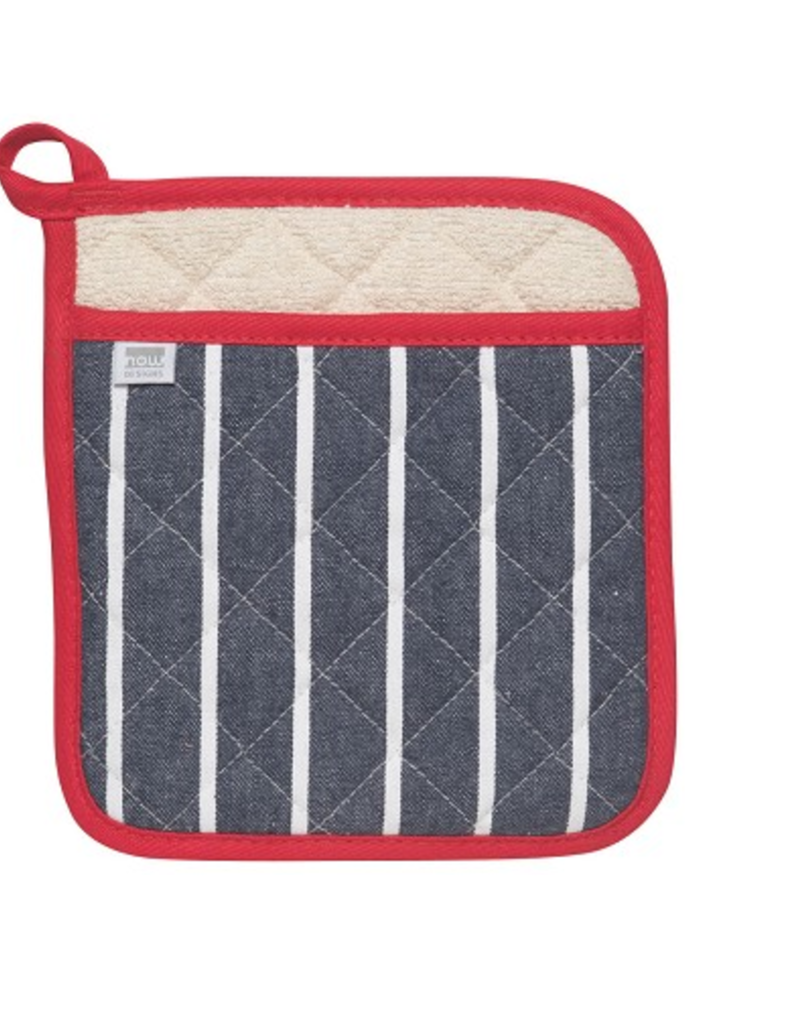 Now Designs Potholder, Navy Butcher Stripe