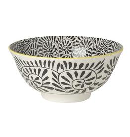 Now Designs Stamped Bowl, Black Vines