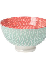 Now Designs Small Stamped Bowl, Light Blue Geo