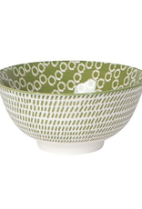 """Now Designs Stamped Bowl, 6"""", Green Ring"""