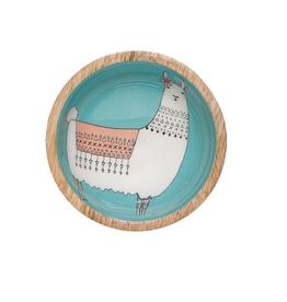 Now Designs Mini Bowl, Mango Wood, Llamarama