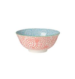 Now Designs Stamped Bowl, Orange Swirls