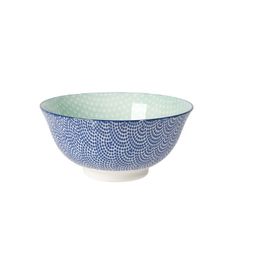Now Designs Stamped Bowl, Blue Waves