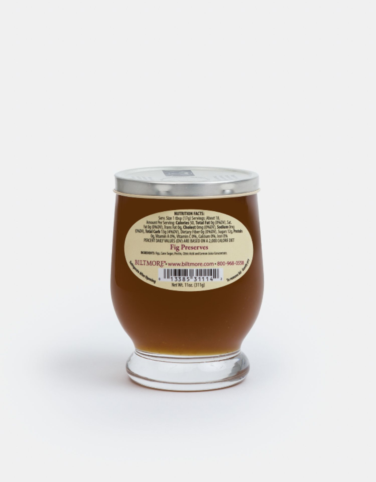 Braswell Foods Fig Preserve, Footed Glass