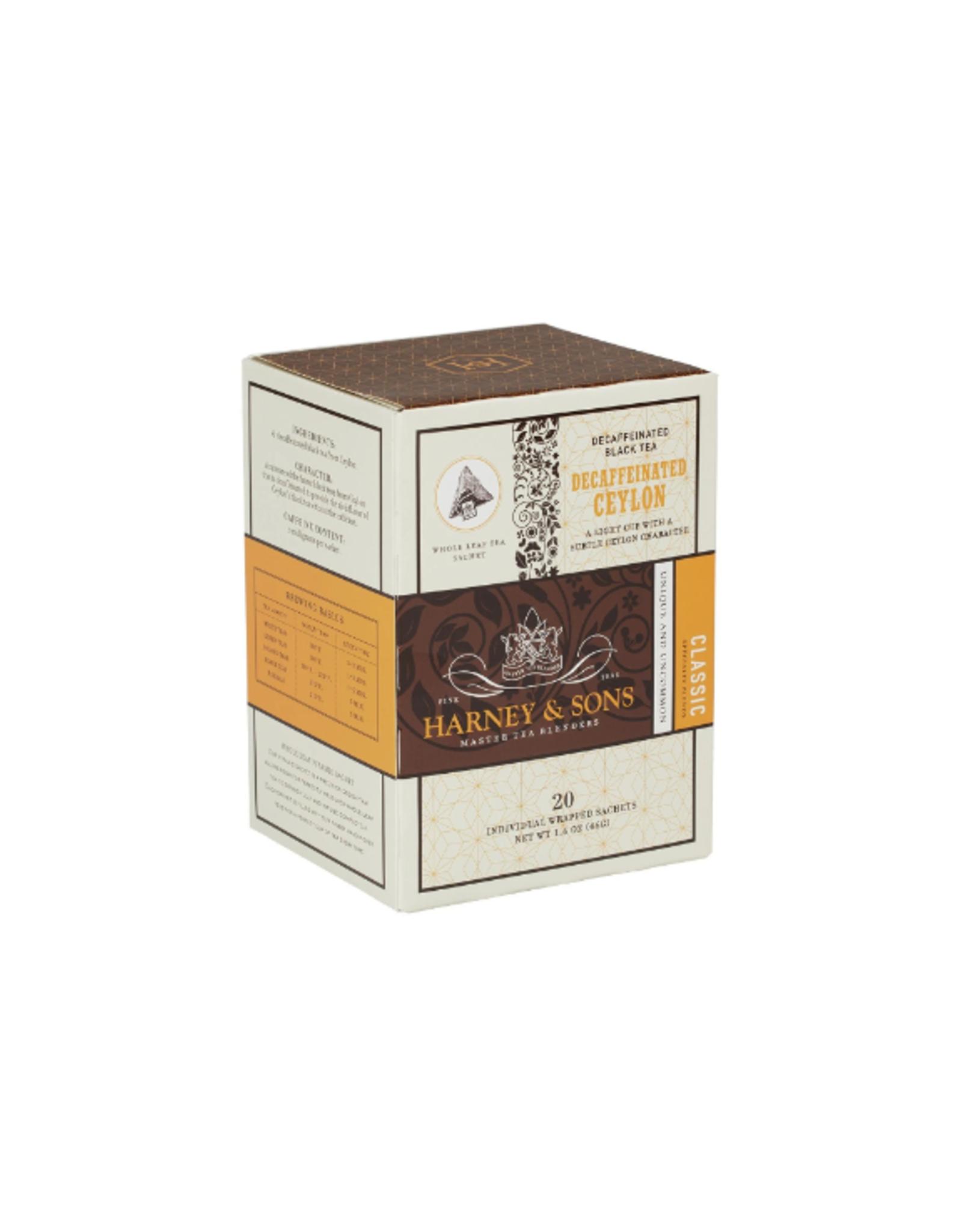 Harney & Sons CDU Tea Sachets, Decaf Ceylon
